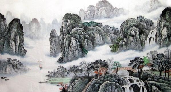 阳朔纪念品之桂林山水画5