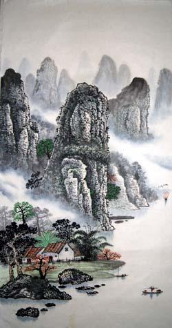 阳朔纪念品之桂林山水画6