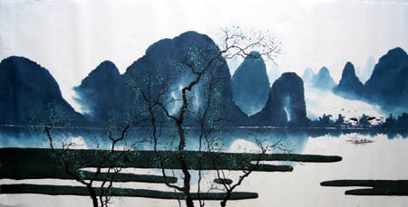 桂林旅游纪念品之桂林山水画20