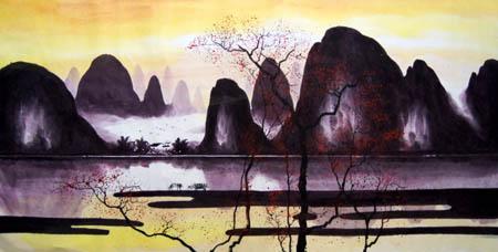 阳朔纪念品之桂林山水画17