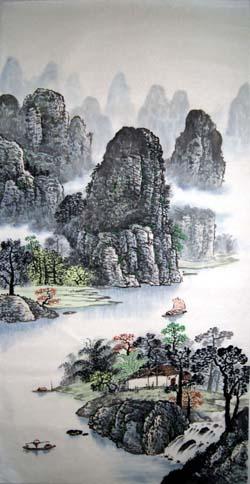 阳朔旅游纪念品之桂林山水画10
