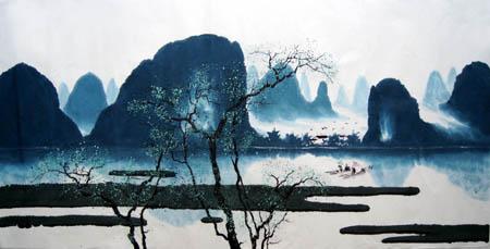 桂林旅游纪念品之桂林山水画22