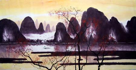 桂林旅游纪念品之桂林山水画29