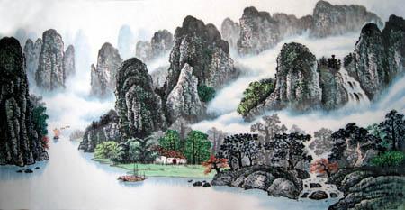 桂林旅游纪念品之桂林山水画33