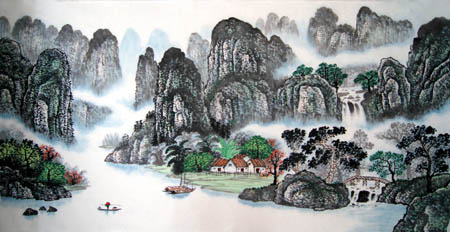 桂林旅游纪念品之桂林山水画34