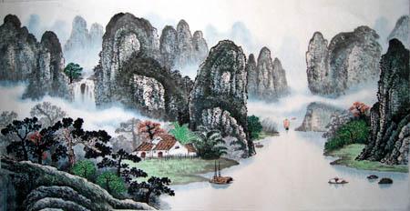 桂林旅游纪念品之桂林山水画35