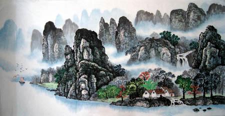 桂林旅游纪念品之桂林山水画32