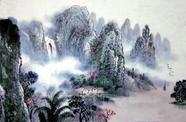 阳朔旅游纪念品之桂林山水画50