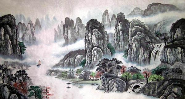 阳朔旅游纪念品之桂林山水画37